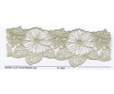 Floral Metallic Lace